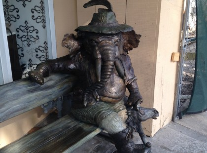Statue seen outside a store in St. Petersburg, Florida